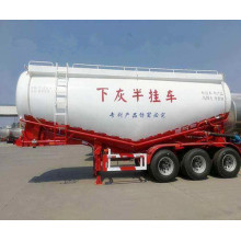 60CBM Bulk cement tanker semi-trailer truck/55cbm bulk cement powder trailer/bulk cement transport trailer